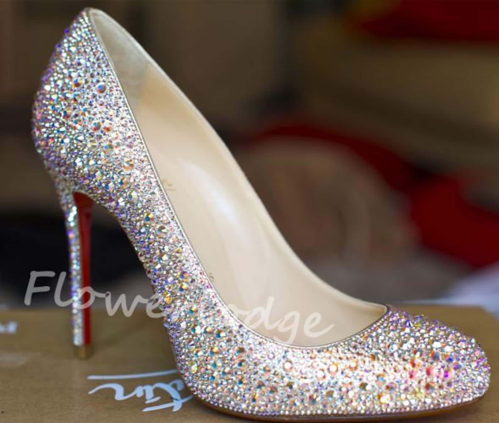 ballet flats rhinestone ballet slippers, ab jewelry ballet shoes custom women pumps heels, crystal prom shoes closed toe heels