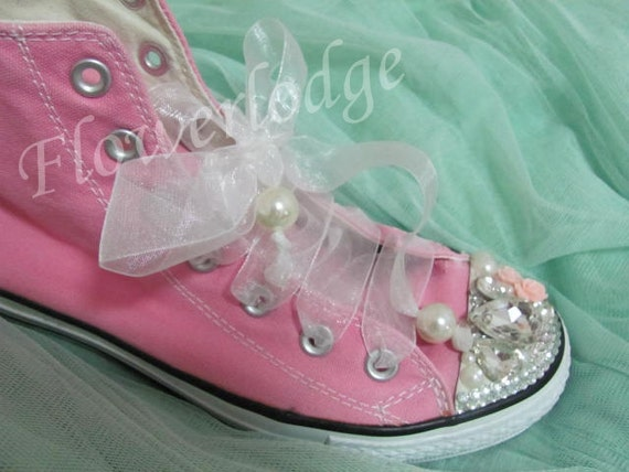 Pink Toddler Shoes toddler converse swarovski toddler converse  4e6da416e