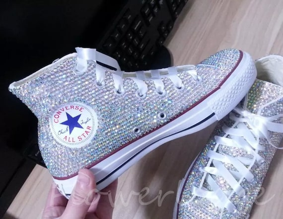 c1e1f3fb80bf Rhinestone Converse Shoes bling converse sparkle AB crystal
