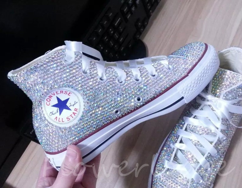 d38f33291db Rhinestone Converse Shoes bling converse sparkle AB crystal