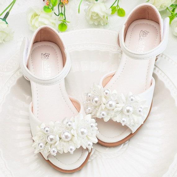 Flower Girl Shoes White Sandals white