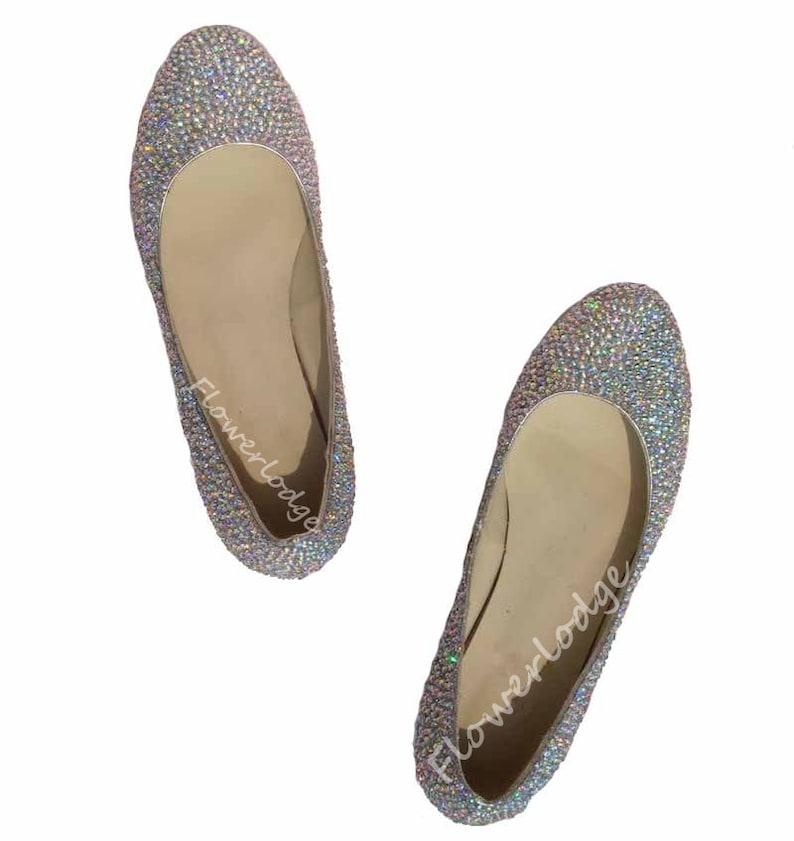 b1841281585 Ballet flats rhinestone ballet slippers AB jewelry ballet