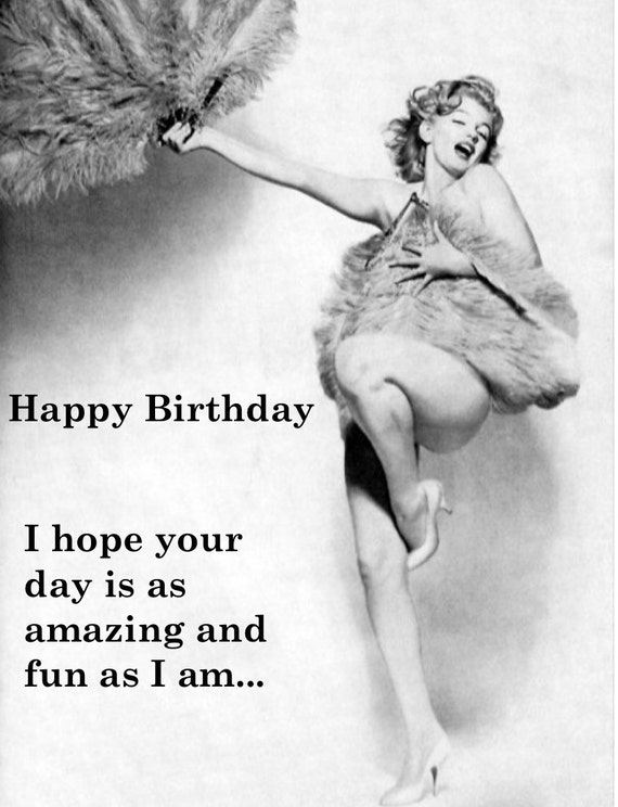 Vintage Birthday Card Funny Tongue In Cheek Marilyn Monroe Etsy