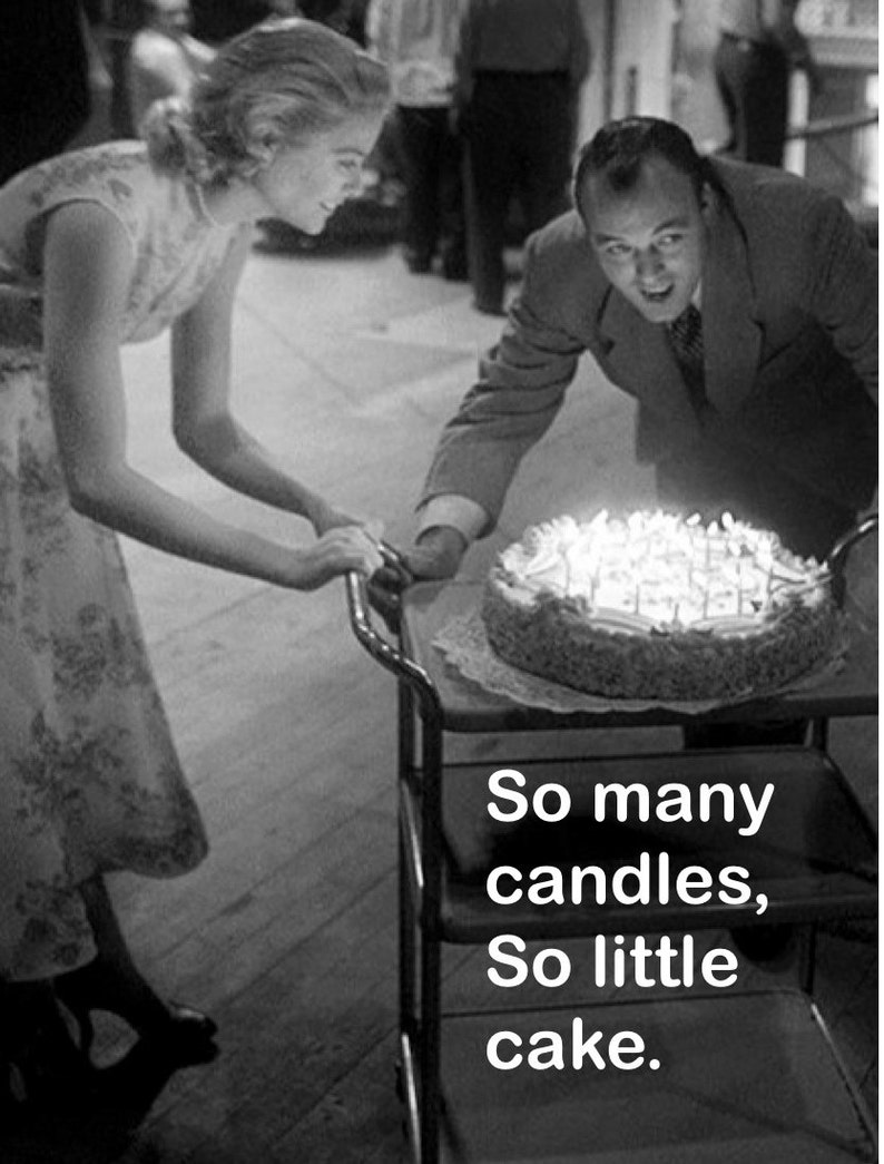 FUNNY VINTAGE BIRTHDAY Card Let Grace Kelly Tell Your Friends