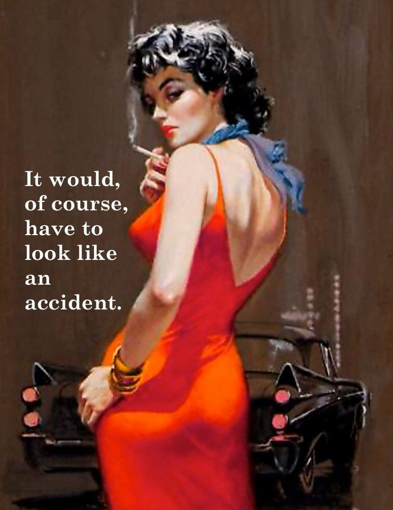 HumorousHilarious Retro Vintage Card Funny Accident- Just because friendshiprelationship AMUSING PULPILLUSTRATION Card 814-169