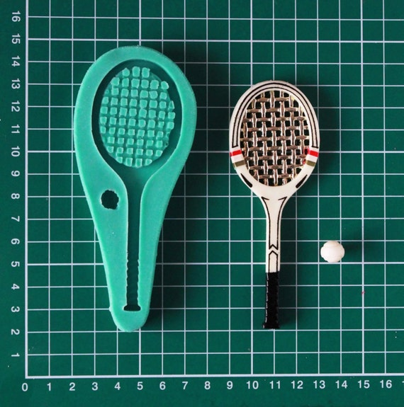 Items Similar To Tennis Racket Silicone Mould Cake Decorating