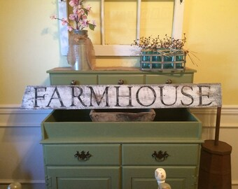 Farmhouse white wash sign