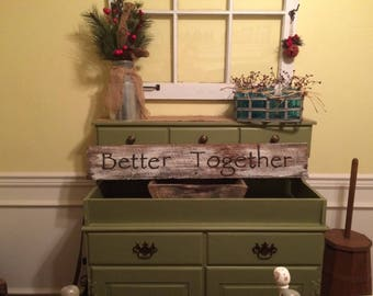 Farmhouse Better Together White Washed Sign