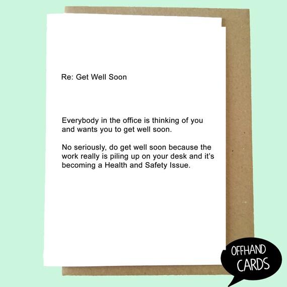 Lustig Besserung Card Office Karte Trauerkarte Buro Humor Etsy