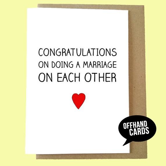 Lustige Hochzeitskarte Hochzeit Glückwunsch Karte Ehe Karte Etsy