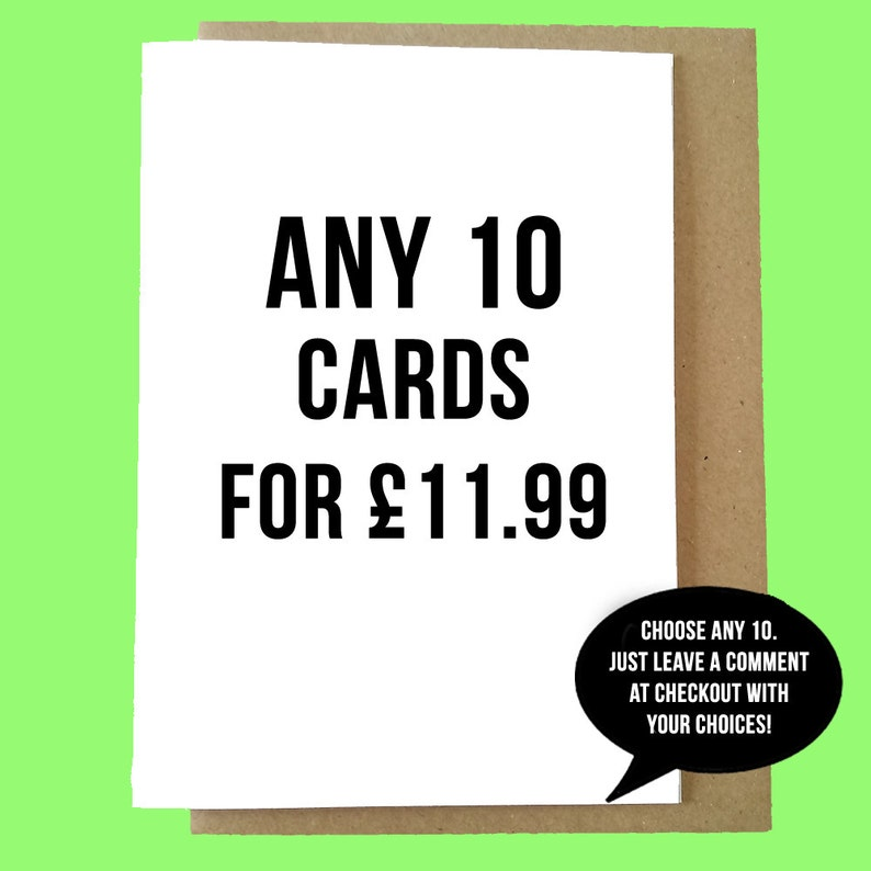 Any 10 Cards For 1199 Offer Save 30 Funny Greetings