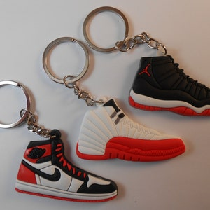 Jordan lanyard with Three Jordan Shoe keychains. New | Etsy