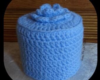 f561a48edde1e Flower Top Crochet Toilet Paper Cover