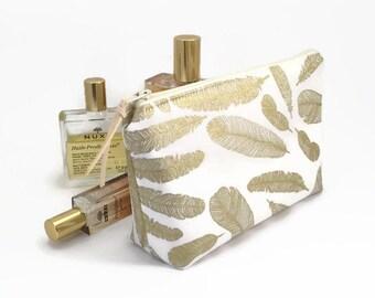Makeup bag, Mothers day gift, Bridesmaid gift, Gold, Make up bag, Cosmetic bag, Makeup organiser, Bridesmaid gift idea, Bridal party gifts