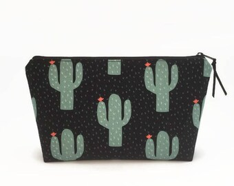 Cactus makeup bag, Zipper pouch, Cactus, Cosmetic bag, Makeup zipper pouch, Makeup storage, Make up bag, Cosmetic pouch, Christmas gift
