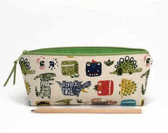 Dinosaur pencil case, Pencil pouch, Back to school supplies, Cute dinosaur, Pencil zipper case, Cute pencil case, Desk accessory