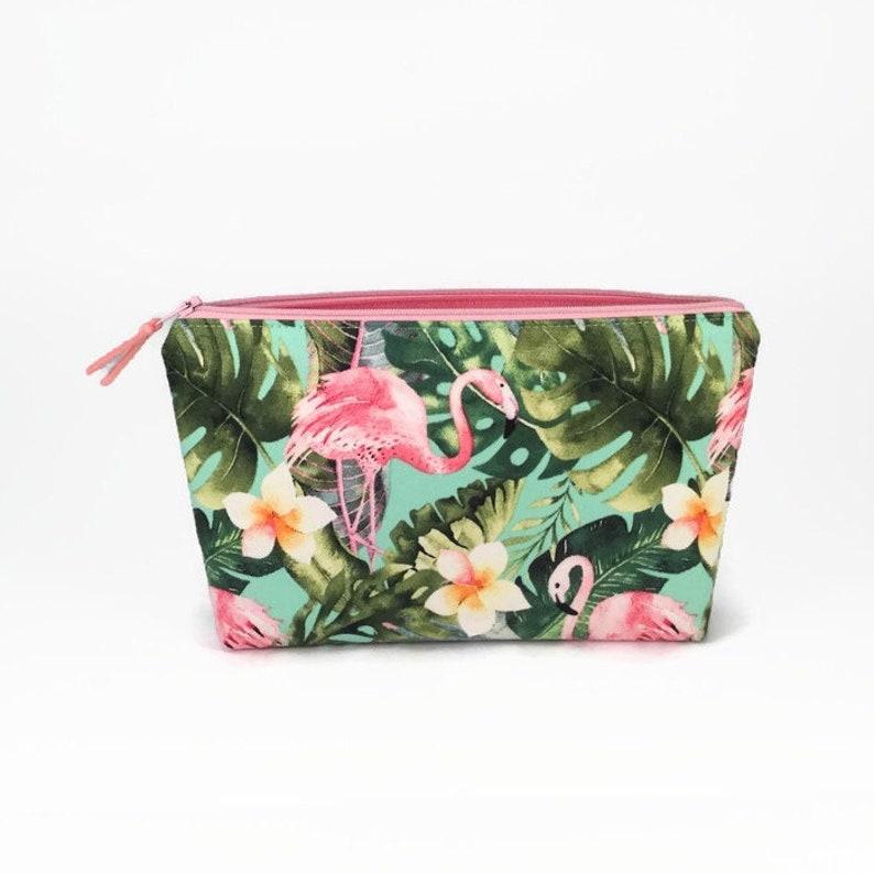 a0943f7012ce Flamingo Makeup bag, Flamingo gift, Make up bag, Cosmetic bag, Flamingo  zipper pouch, Cosmetic case, Makeup organiser, Bathroom storage