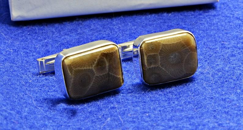 Pestoskey Stone Cuff Links