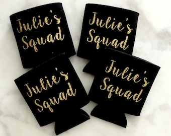 Personalized Squad Drink Sleeves