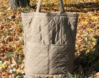 Recycled Tote Bag , Big Market Bag , Shopping Bag , Fiber bag , Grey Bag , Grocery Bag,weekend tote