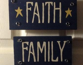 Faith * Family * Friends Sign