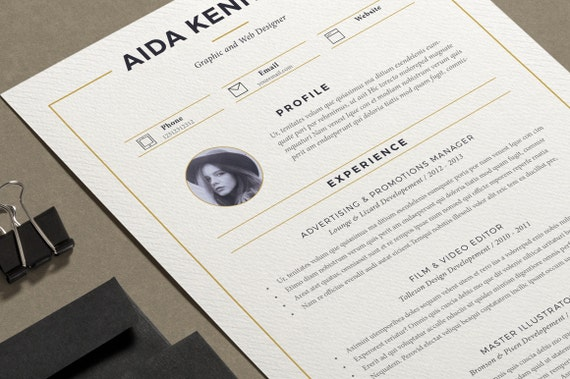 Resume Template / CV Template + Cover Letter | Creative Resume | Teacher  Resume | Word Resume | Nurse Resume | Instant Download