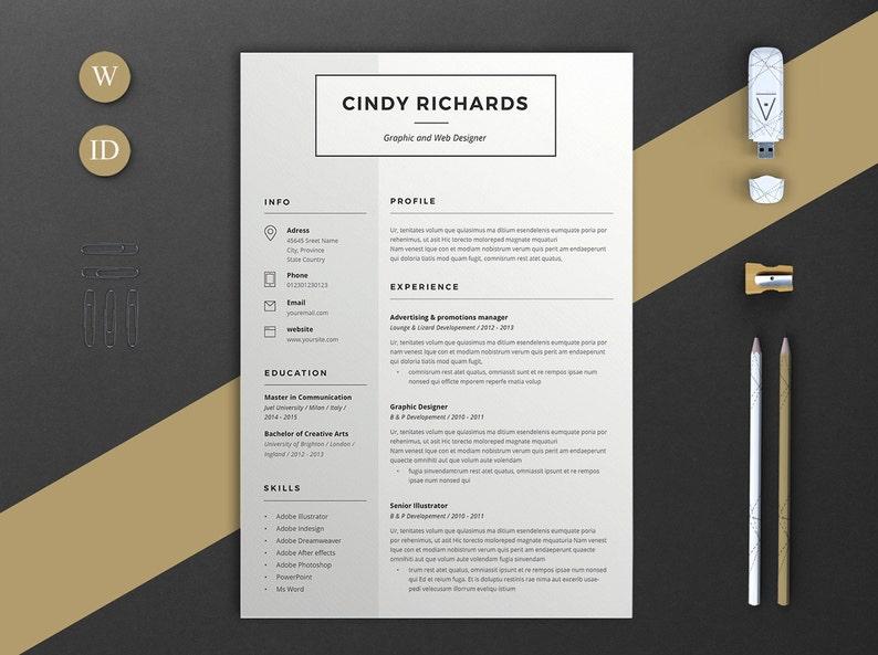 Word Resume Cv Icons Cv Template Resume Resume Template Cv Modern Cv Resume Teacher 2 Pages Resume Resume Template Word