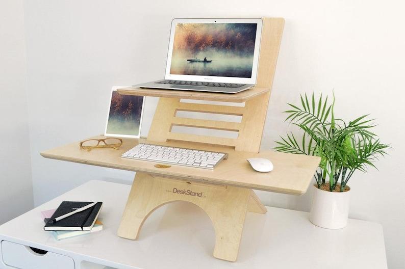 Standing Desk Original Deskstand Laptop Stand Adjustable Etsy