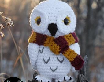 Eira Owl w/ Envelope • PDF Crochet Pattern by SweetPippin