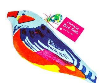 Sicklebill Tropical Bird Purse - coin purse, small purse