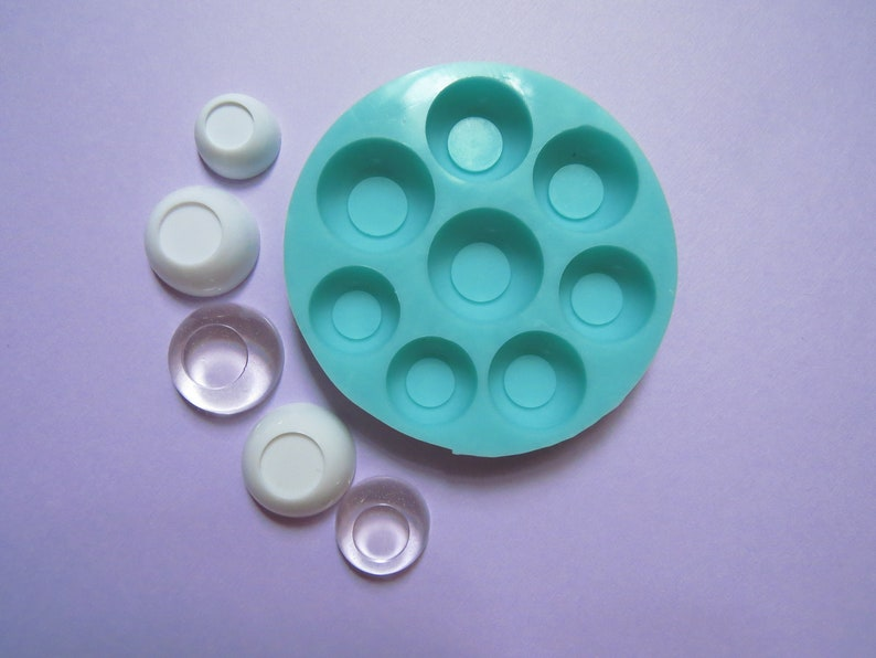 Mould for Doll Eyes BJD Eyes Mold FLAT  20 mm 22 mm 24 mm 26 mm Silicone Mold Doll Eye Mold