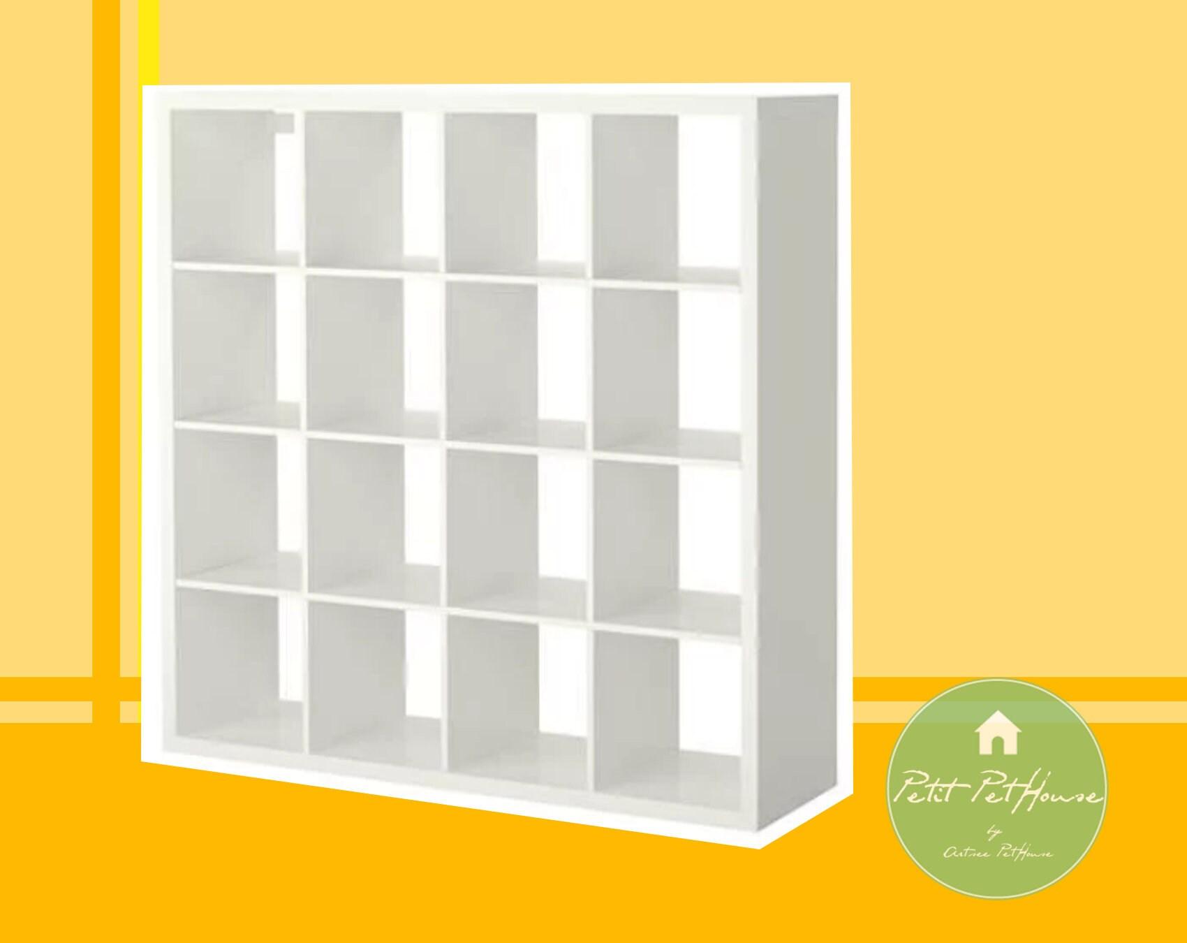 1 6 Ikea Inspired Dollhouse Miniature White 4x4 Wooden Shelf