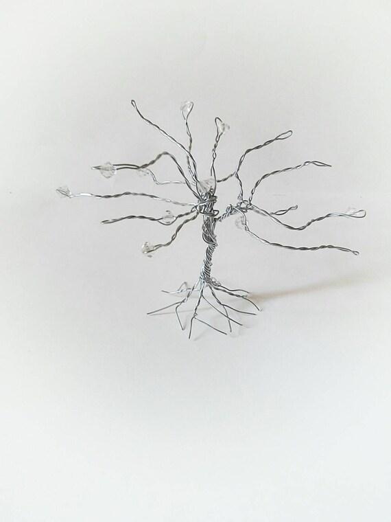 Silver small wire sculpture tree wire tree decor tree decor | Etsy