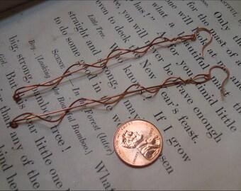 Long Helix Copper Earring