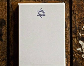 Star of David Small Note Cards
