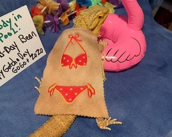 Bearded Dragon Bikini Bathing Suit Cape