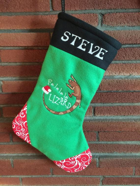 Personalised Merry Christmas Caravan Green Christmas Stockings Socks