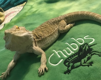 Bearded Dragon blanket Ubby with Dragon Design and Name