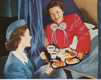 """Vintage PAN AMERiCAN print Advertising 1954 """"World's Most Experienced Airline"""""""