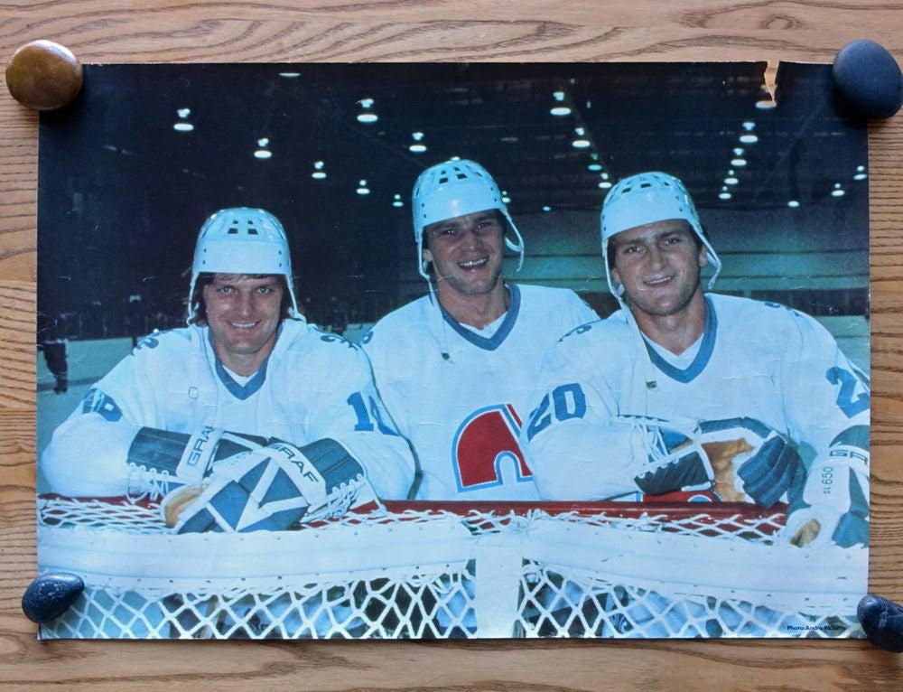 Jahrgang Hockey Poster Gebrüder Stastny QUEBEC Nordiques
