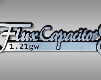 Flux Capacitor Car Emblem - Back to the Future  Chrome Plastic Not a Decal / Sticker