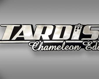 TARDIS Chameleon Edition Dr Who Car Emblem - Chrome Plastic Not a Decal / Sticker