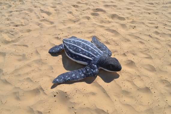 Big Stuffed Animal Turtle Felted Leatherback Turtle Sea Etsy