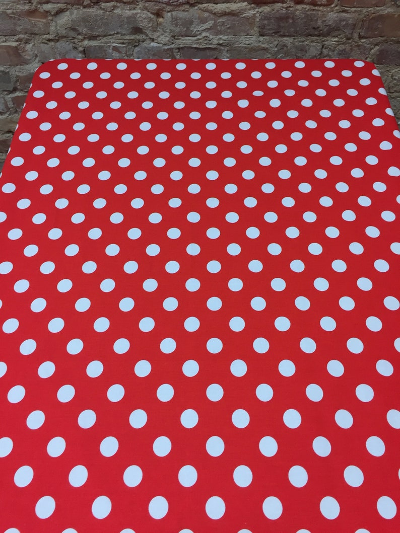 Scandinavian design GIFT modern tablecloth Tablecloth red and White Polka Dot