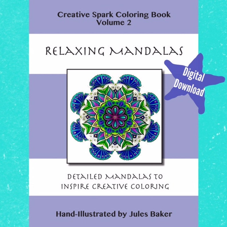 Digital Download - Creative Spark Coloring Book - Relaxing Mandalas