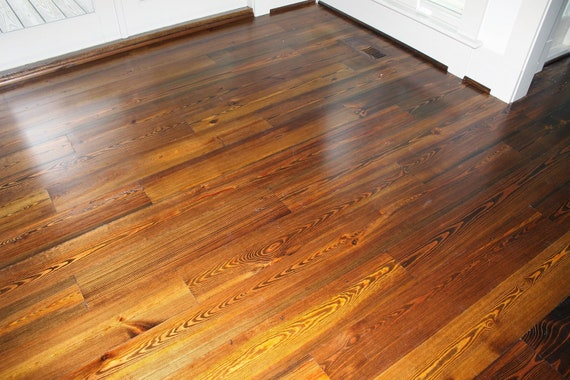 Antique Heart Pine Flooring Etsy