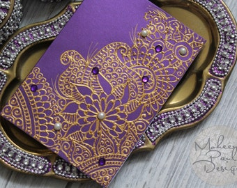 Boysenberry Purple Henna Card