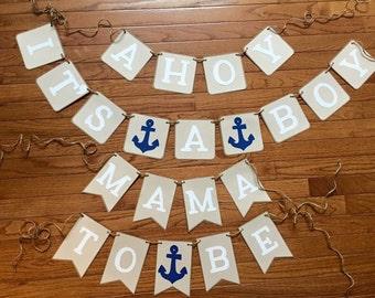 Ahoy its a boy banner set