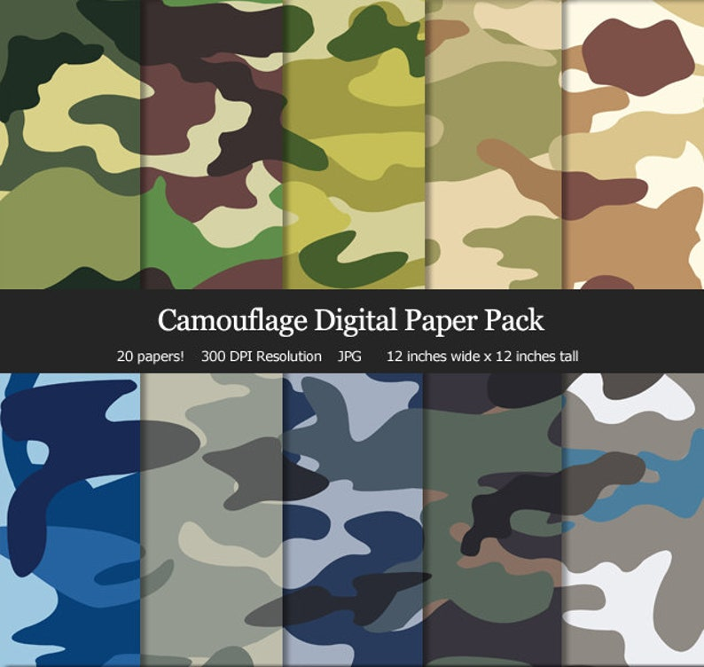 56ad75a3a4 Military Camo Camouflage Digital Paper Pack Pink Camo Army