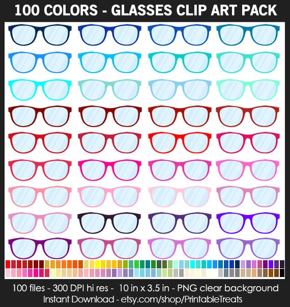 bfddf3ab76 Glasses Clipart Pack 100 Colors Summer Beach Sunglasses